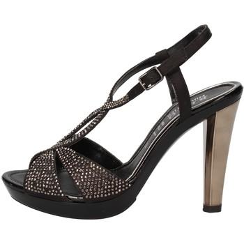 Zapatos Mujer Sandalias Phil Gatiér sandalias negro satén strass AC791 negro