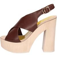 Zapatos Mujer Sandalias Suky Brand sandalias marrón cuero AC799 marrón