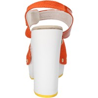 Zapatos Mujer Sandalias Suky Brand sandalias naranja textil charol AC802 naranja