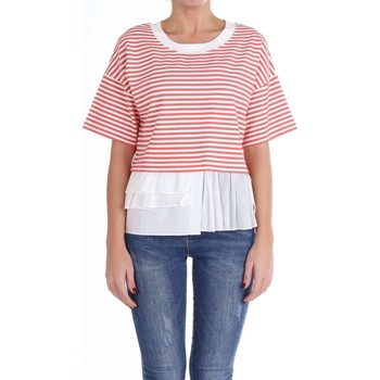 textil Mujer jerséis Moschino Boutique 12020827 Suéter Mujer Blanco y rosa Blanco y rosa
