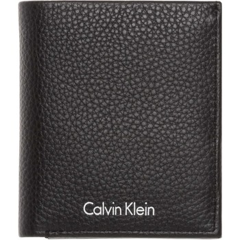 Bolsos Hombre Cartera Calvin Klein Jeans K50K503608 PEBBLE LEATHER MINI MONEDEROS Hombre BLACK BLACK