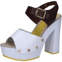 Zapatos Mujer Sandalias Suky Brand sandalias blanco cuero marrón AC809 multicolor