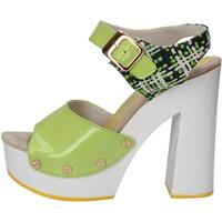 Zapatos Mujer Sandalias Suky Brand sandalias verde charol textil AC811 verde