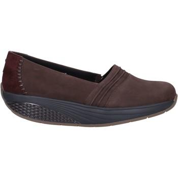 Zapatos Mujer Mocasín Mbt slip on mocasines marrón nobuck gamuza AC906 marrón