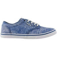 Zapatos Mujer Zapatos de skate Vans atwood low printed canvas cobalt 19
