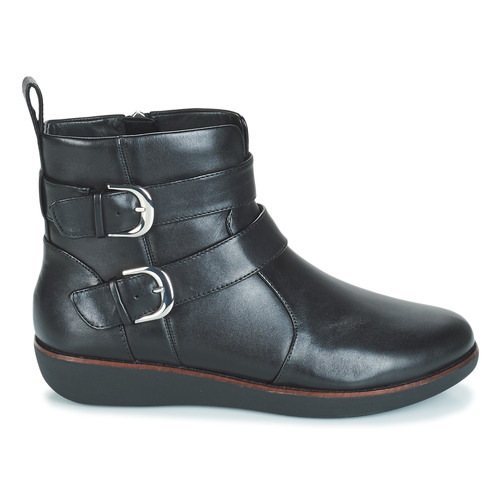 Caña De Double Buckle Negro Zapatos Mujer Baja Fitflop Laila Botas ED29WIH