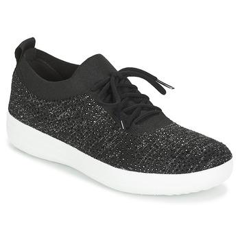 Zapatos Mujer Zapatillas bajas FitFlop F SPORTY UBERKNIT SNEAKERS CRYSTAL Negro
