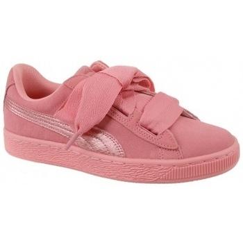 Zapatos Niña Zapatillas bajas Puma Suede Heart SNK Jr rosa