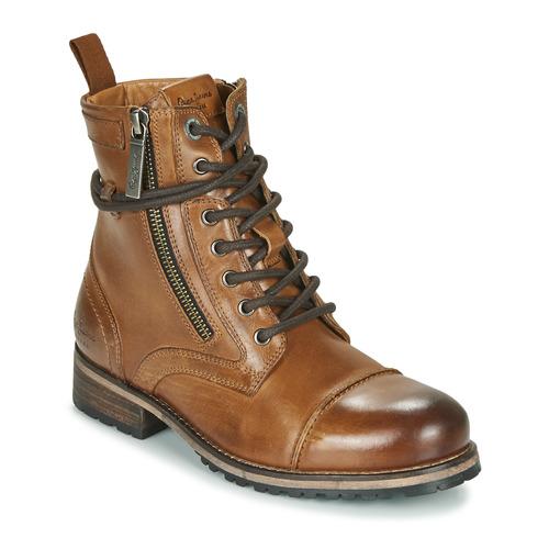 watch 80cd1 0caca Zapatos Mujer Botas de caña baja Pepe jeans Melting Marrón