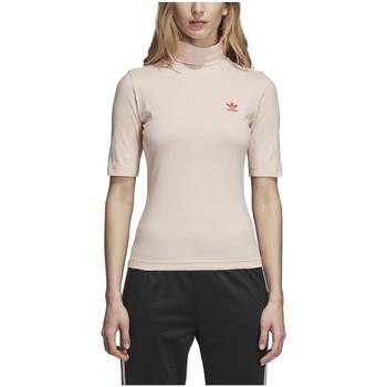 textil Hombre camisetas manga corta adidas Originals CAMISETA  HIGH NECK BLUPNK Rosa