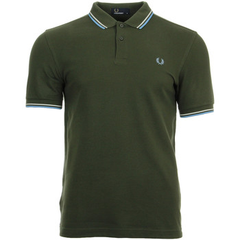 textil Hombre polos manga corta Fred Perry Twin Tipped  Shirt Verde