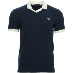 textil Hombre polos manga corta Fred Perry Taped Pique Shirt Carbon Blue Azul