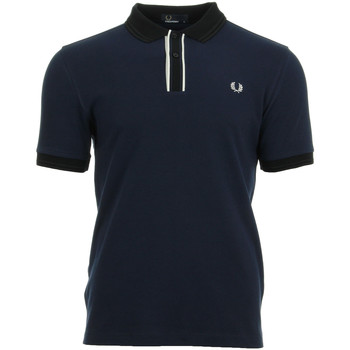 textil Hombre polos manga corta Fred Perry Tipped Placket Pique Shirt Azul