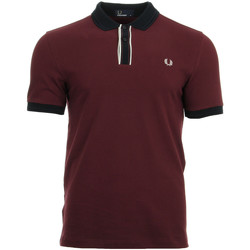 textil Hombre polos manga corta Fred Perry Tipped Placket Pique Shirt Rojo