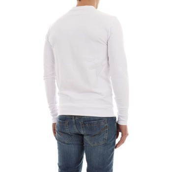Guess M81Q00 K6ZS0 CLEAR FLEECE SUDADERA Hombre WHITE WHITE