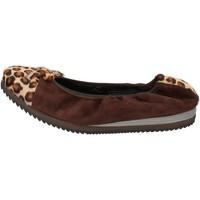 Zapatos Mujer Bailarinas-manoletinas Calpierre bailarinas marrón gamuza pelo de becerro AD574 marrón