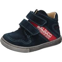 Zapatos Niño Zapatillas altas Balducci sneakers azul gamuza AD585 azul