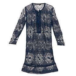 textil Mujer vestidos cortos Antik Batik LEANE Marino