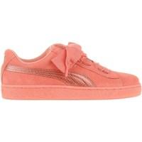 Zapatos Niños Zapatillas bajas Puma Suede Heart Snk JR Rosa