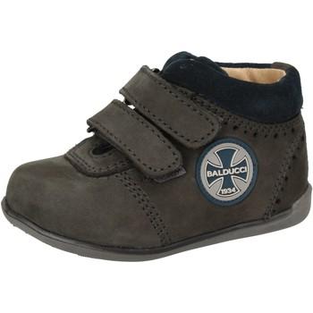 Zapatos Niño Zapatillas altas Balducci sneakers azul cuero de ante AD590 azul