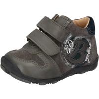 Zapatos Niño Zapatillas bajas Balducci sneakers gris gamuza cuero AD594 gris