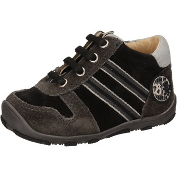 Zapatos Niño Zapatillas altas Balducci sneakers negro gamuza AD596 negro