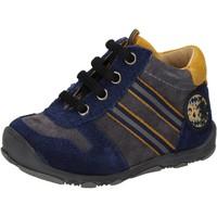 Zapatos Niño Zapatillas altas Balducci sneakers azul gamuza gris AD597 azul
