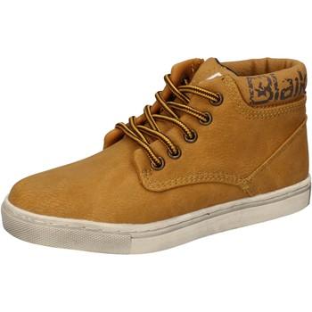 Zapatos Niño Zapatillas altas Blaike sneakers amarillo cuero AD702 amarillo