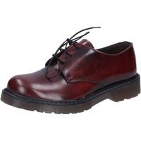 Zapatos Hombre Zapatos de trabajo Olga Rubini elegantes burdeos cuero brillante AD720 rojo