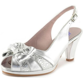 Zapatos Mujer Sandalias Chamby Shoes Sandalia de piel talla 35 - 42 by Vogue Comfort Plata