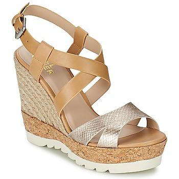 Zapatos Mujer Sandalias Bullboxer GLADOU Marrón / Plateado