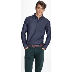 textil Hombre camisas manga larga Sols BARRY MEN AZUL
