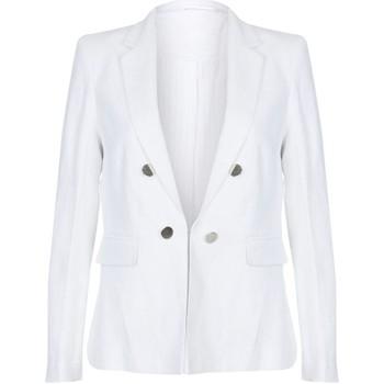 textil Mujer Chaquetas / Americana Anastasia Chaqueta de verano con cremallera  Cream Linen White
