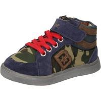Zapatos Niño Zapatillas altas Blaike sneakers azul gamuza verde cuero AD769 multicolor