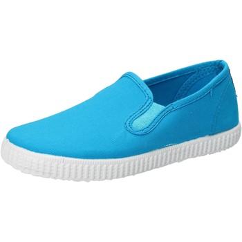 Zapatos Niño Slip on Cienta slip on azul turchese textil profumate AD780 azul