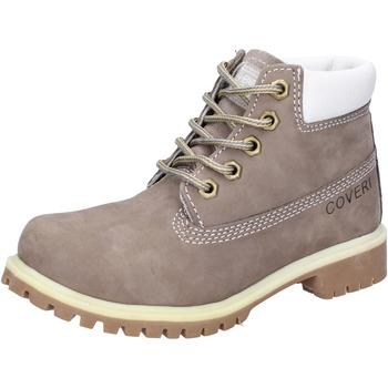 Zapatos Niño Botas de caña baja Enrico Coveri botines gris cuero de ante AD831 gris