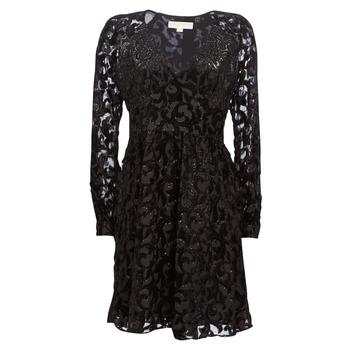 textil Mujer vestidos cortos MICHAEL Michael Kors RAGLAN SLV SHORT DRS Negro