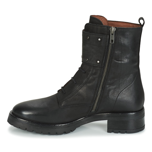 Negro Zapatos De Botas Mujer Caña Baja Ikks Regnaut 1Jc35uTlKF
