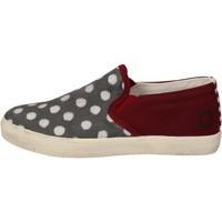 Zapatos Niña Slip on Date slip on burdeos textil gris AD841 rojo