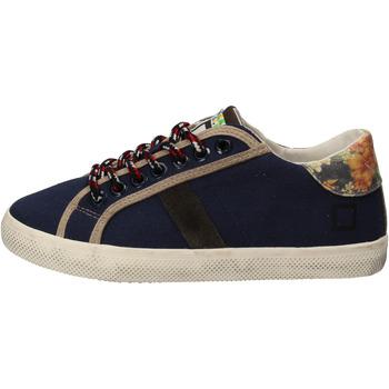 Zapatos Niña Zapatillas bajas Date sneakers azul textil AD862 azul