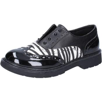 Zapatos Niña Zapatillas bajas Enrico Coveri elegantes negro cuero blanco charol AD964 negro