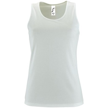 textil Mujer camisetas sin mangas Sols SPORTY T T  WOMEN BLANCO