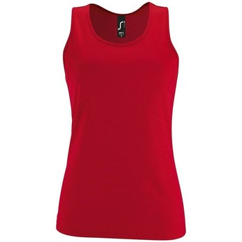 textil Mujer camisetas sin mangas Sols SPORTY T T  WOMEN ROJO