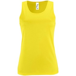 textil Mujer camisetas sin mangas Sols SPORTY T T  WOMEN AMARILLO
