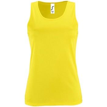 textil Mujer camisetas sin mangas Sols SPORTY T T  WOMEN AMARILLO