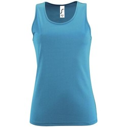 textil Mujer camisetas sin mangas Sols SPORTY T T  WOMEN AZUL