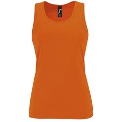 textil Mujer camisetas sin mangas Sols SPORTY T T  WOMEN NARANJA
