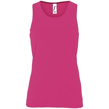 textil Mujer camisetas sin mangas Sols SPORTY T T  WOMEN Rosa