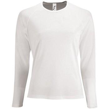 textil Mujer Camisetas manga larga Sols SPORTY LSL WOMEN BLANCO