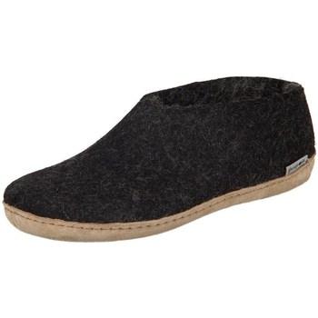 Zapatos Mujer Pantuflas Glerups DK Shoe Charcoal Lammwollfilz Negros